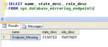 mirroring endpoint state in sql server