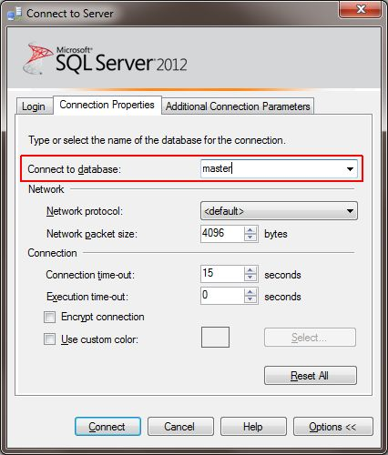 connect_to_server_options_database